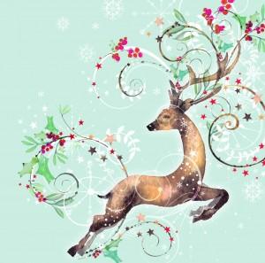 leaping reindeer